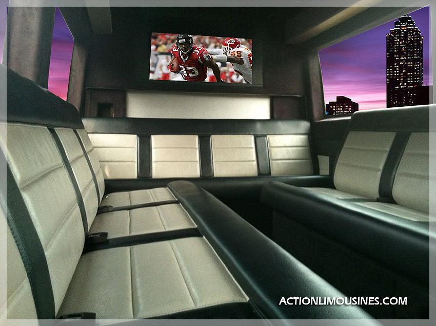 Atlanta party bus service action limo bus transportation for Mercedes benz sprinter rental atlanta