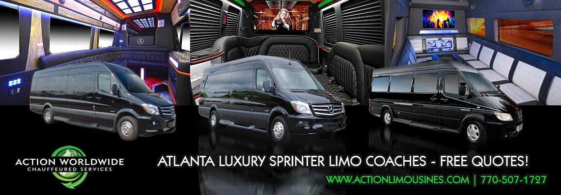 Atlanta Sporting Event SPRINTER Limo Coach Service